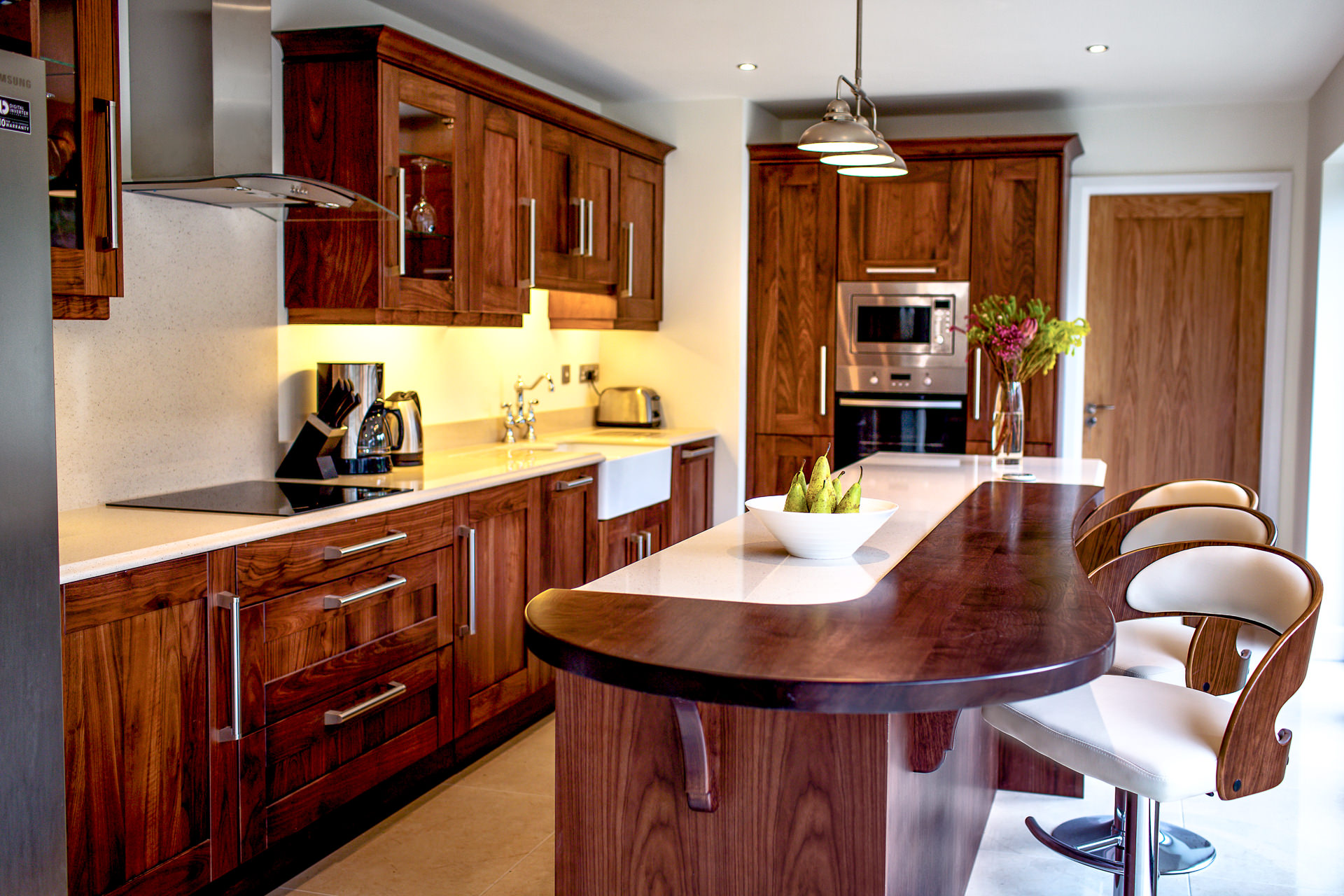 Celtic interiors, Walnut Kitchen Ref 7488 . Copyright Casey Photography 2016